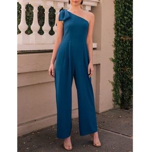 Gal Meets Glam Sylvia One Shoulder Jumpsuit